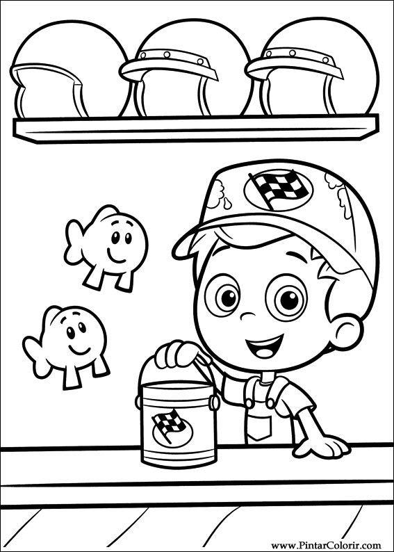 Dibujos para pintar  Colour Bubble Guppies  Diseo de impresin 017