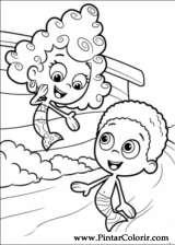 Pintar e Colorir Bubble Guppies - Desenho 006