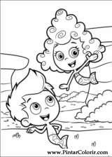 Pintar e Colorir Bubble Guppies - Desenho 007
