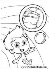 Dibujos para pintar y Color burbuja Guppies  Pgina 3