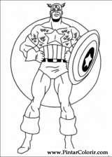 Dibujos para pintar y Color Captain America  Diseo de impresin 022