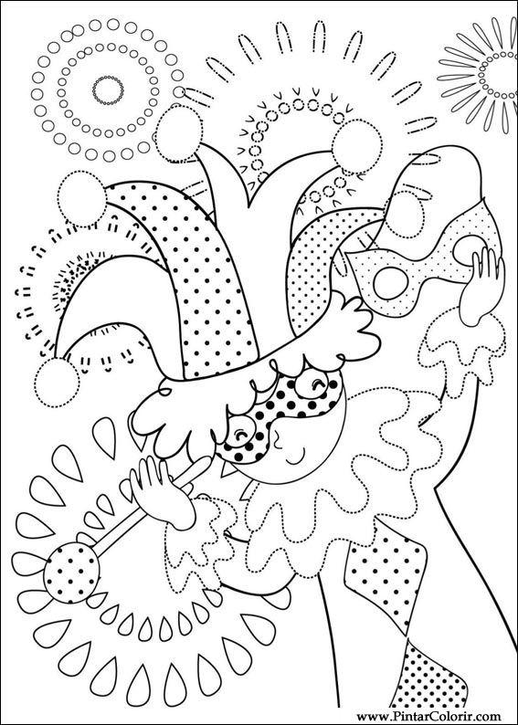 Drawings to paint colour carnival print design 006 - Dessins de carnaval ...