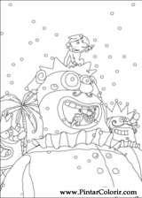 Pintar e Colorir Carnaval - Desenho 004