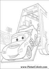 Pintar e Colorir Carros - Desenho 007