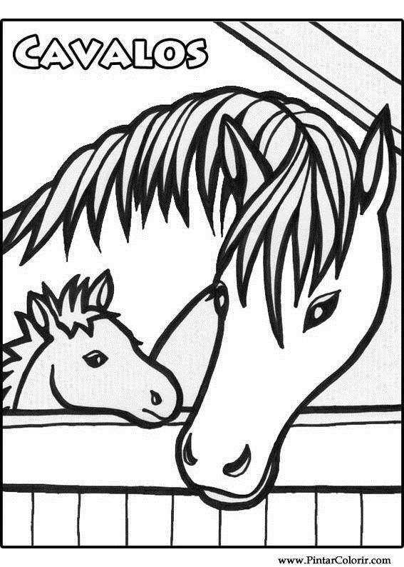 paint horse coloring pages - drawings to paint colour horses print design 011