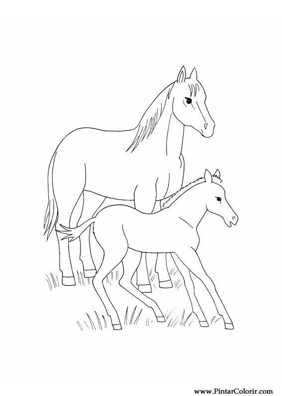 Unicorn Paard Kleurplaat Drawings To Paint Amp Colour Horses Print Design 016