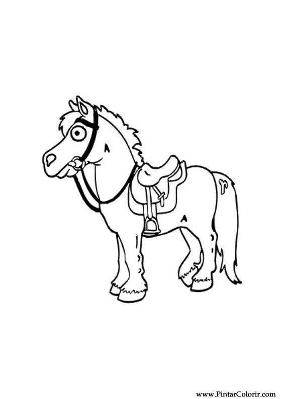 Tekeningen Te Schilderen Amp Kleur Horses Print Design 019