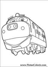 Pintar e Colorir Chuggington - Desenho 008