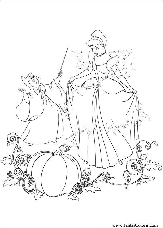 paint colour cinderella drawing 075