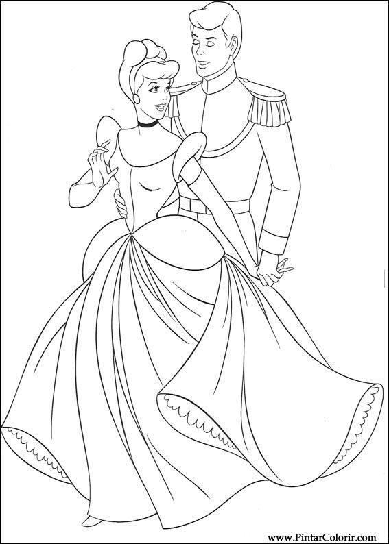 Drawings To Paint amp Colour Cinderella