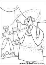Pintar e Colorir Cinderela - Desenho 005