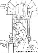 Pintar e Colorir Cinderela - Desenho 008