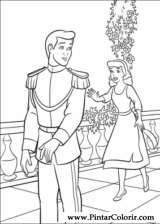 Pintar e Colorir Cinderela - Desenho 019