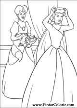 Pintar e Colorir Cinderela - Desenho 050