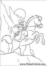 Pintar e Colorir Cinderela - Desenho 058