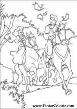 Pintar e Colorir Cinderela - Desenho 097