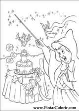 Pintar e Colorir Cinderela - Desenho 098