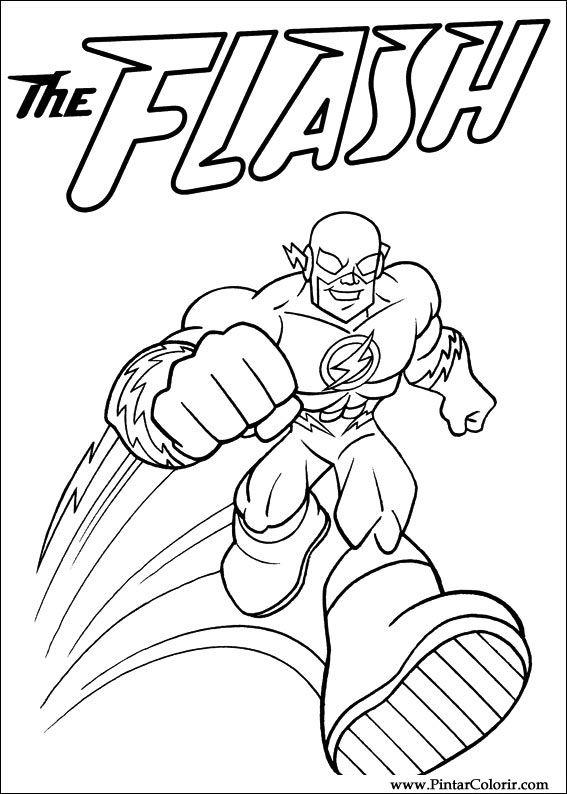 dc coloring pages | Drawings To Paint & Colour Dc Comics - Print Design 007