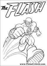 Pintar e Colorir Dc Comics - Desenho 007