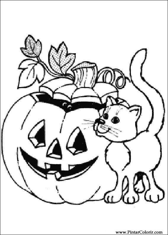 Ritningar Att m la amp F rg Halloween