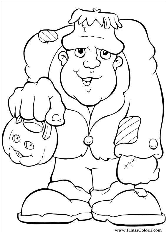 Dibujos para pintar y Color Halloween - Diseño de impresión 055