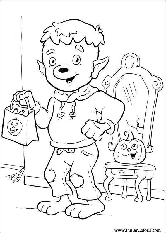 Pintar e Colorir Dia Das Bruxas - Desenho 071