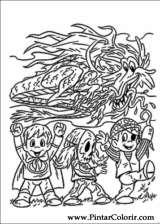 Pintar e Colorir Dia Das Bruxas - Desenho 032