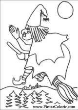 Pintar e Colorir Dia Das Bruxas - Desenho 039