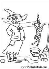 Pintar e Colorir Dia Das Bruxas - Desenho 041
