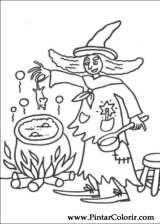 Pintar e Colorir Dia Das Bruxas - Desenho 043