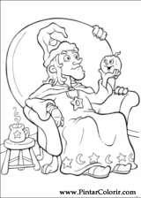 Pintar e Colorir Dia Das Bruxas - Desenho 063