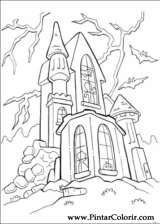 Pintar e Colorir Dia Das Bruxas - Desenho 075