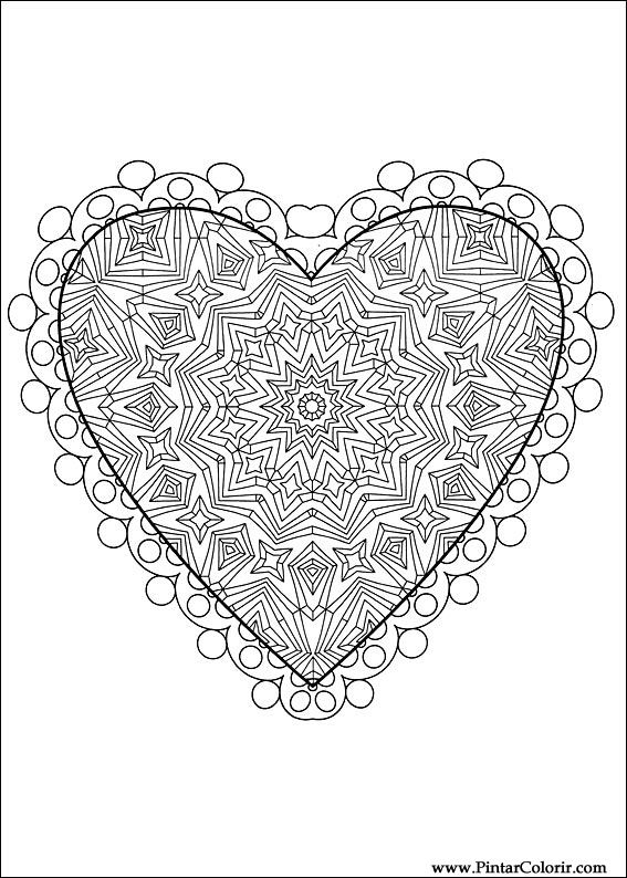 Drawings To Paint Amp Colour Day Valentine Print Design 043