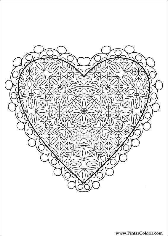 Kerst Kleurplaten Afdrukken Tekeningen Te Schilderen Amp Kleur Valentijnsdag Print
