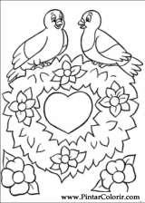 Pintar e Colorir Dia Dos Namorados - Desenho 006