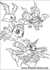 Pintar e Colorir Digimon - Desenho 002