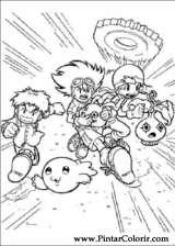 Pintar e Colorir Digimon - Desenho 005