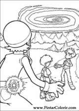 Pintar e Colorir Digimon - Desenho 007
