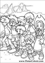 Pintar e Colorir Digimon - Desenho 013