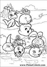 Pintar e Colorir Digimon - Desenho 014