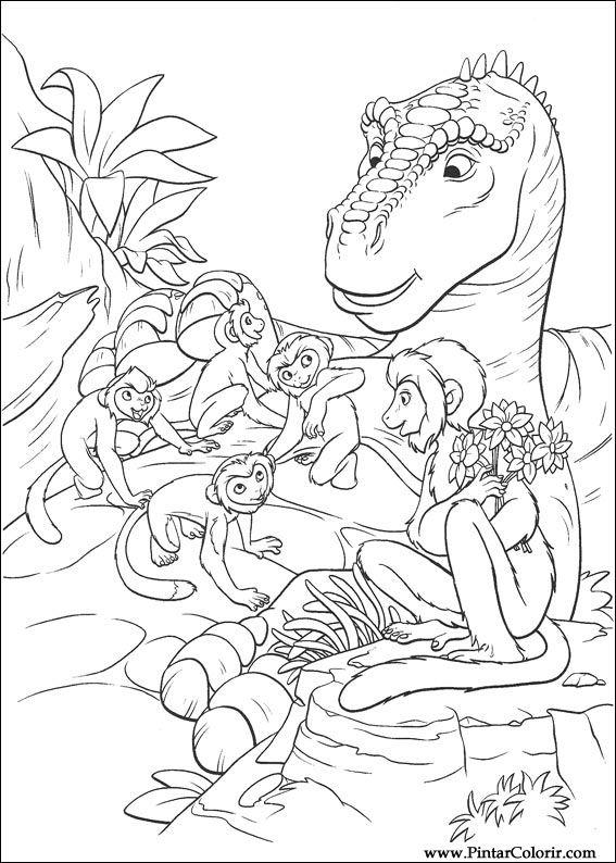 Pintar e Colorir Dinossauro - Desenho 004