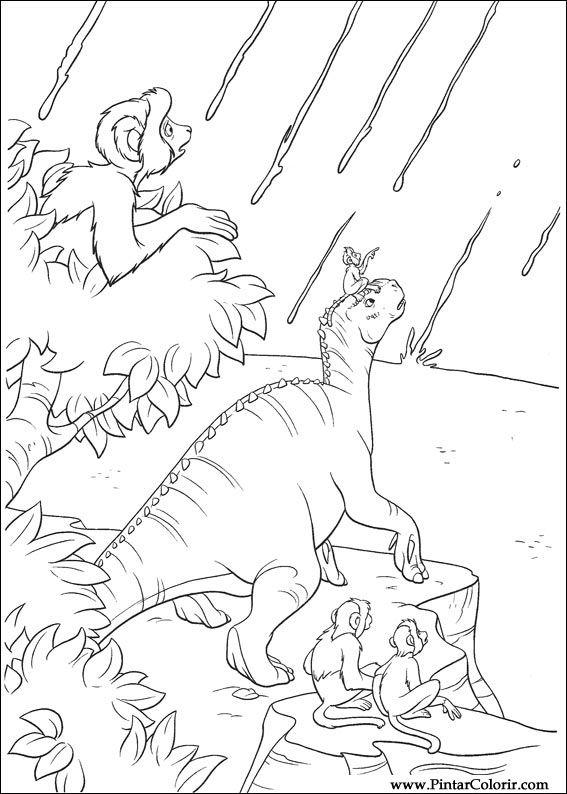 Pintar e Colorir Dinossauro - Desenho 006