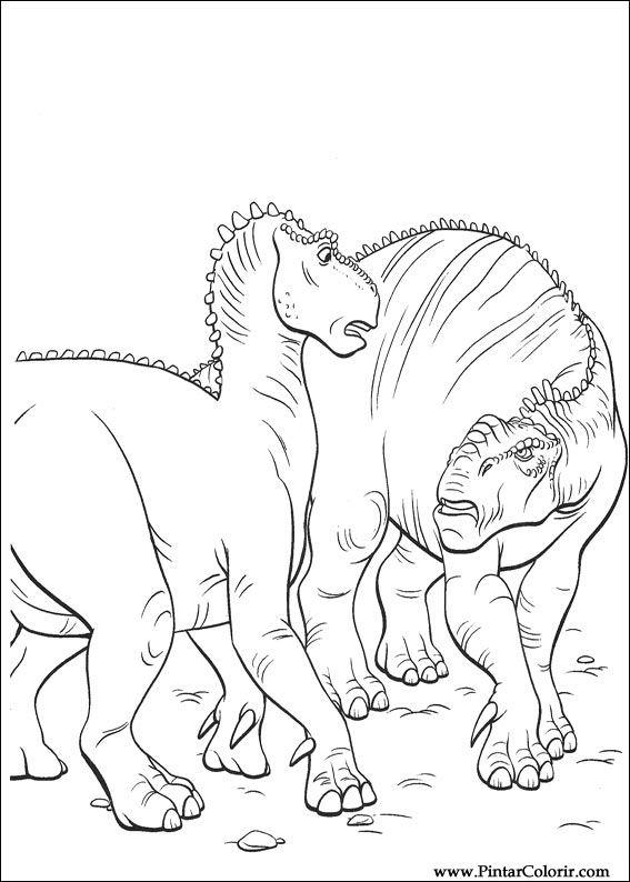 Pintar e Colorir Dinossauro - Desenho 008