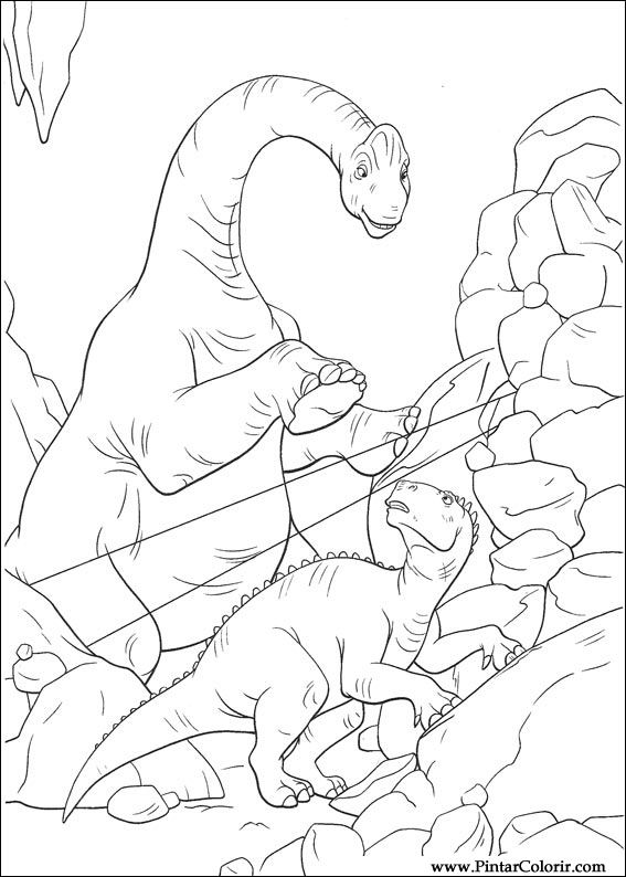 Drawings To Paint amp Colour Dinosaur
