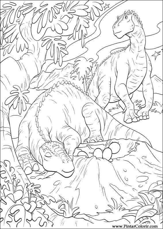 Desenhos para pintar e colorir dinossauro imprimir - Dinosaures coloriage ...