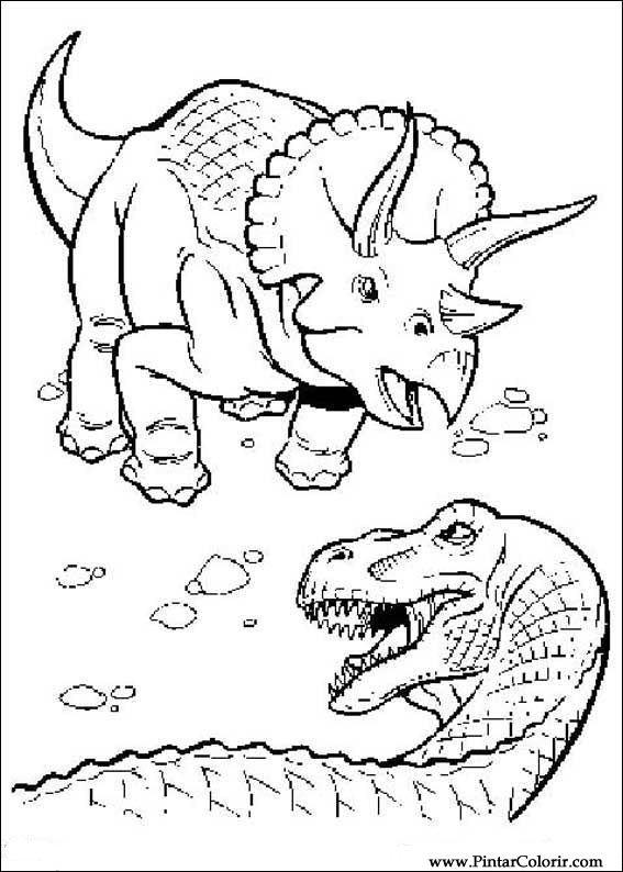 Desenhos Para Pintar Colorir Dinossauro Imprimir