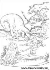 Pintar e Colorir Dinossauro - Desenho 005