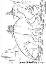 Pintar e Colorir Dinossauro - Desenho 007