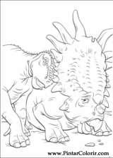 Pintar e Colorir Dinossauro - Desenho 010