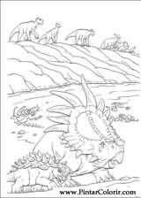 Pintar e Colorir Dinossauro - Desenho 012
